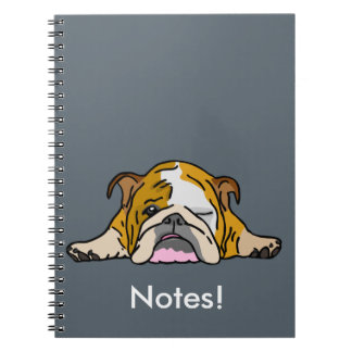 English Bulldogge Bully Notebook