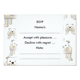 English Bulldogs, White. Dogs Pattern. Card