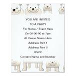 English Bulldogs, White. Dogs Pattern. Personalized Invites