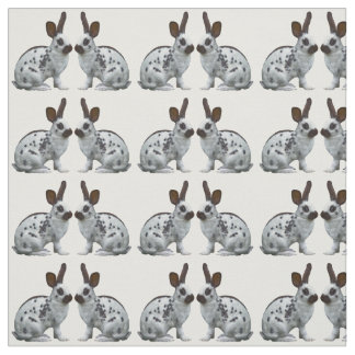 English Bunny Frenzy Fabric (Choose Your Colour)