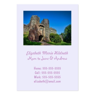 English Castle Entrance on a Summer s Day Business Card