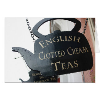 English Clotted Cream Tea sign Greeting Cards
