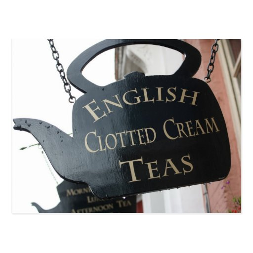 English Clotted Cream Tea sign Postcard