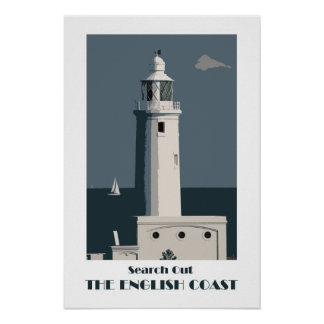 English Coast 1920s-style retro poster
