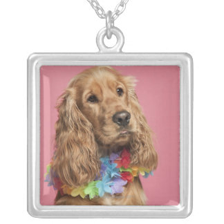 English Cocker Spaniel (10 months old) Silver Plated Necklace