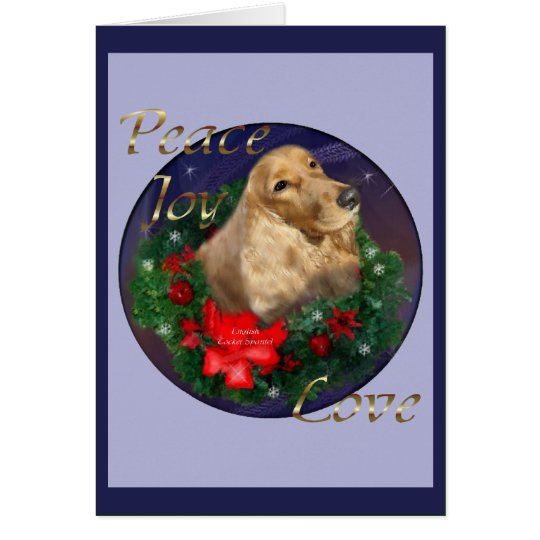 English Cocker Spaniel Christmas Gifts Card