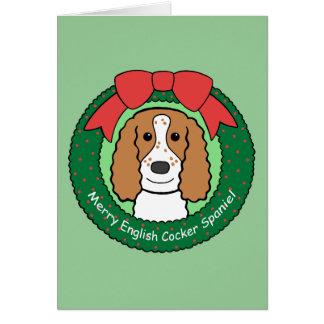 English Cocker Spaniel Christmas Greeting Card