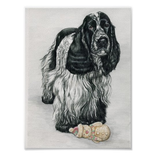 English Cocker Spaniel Dog Art Print