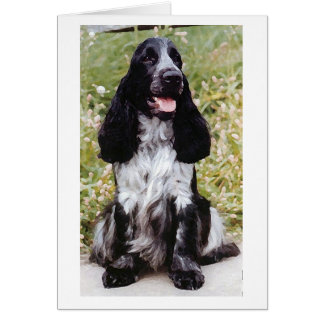 English Cocker Spaniel Dog Blank Greeting Card