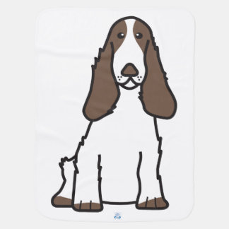 English Cocker Spaniel Dog Cartoon Baby Blanket