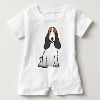 English Cocker Spaniel Dog Cartoon Baby Bodysuit