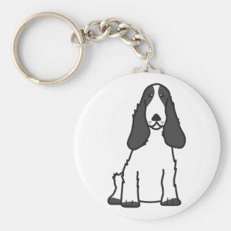English Cocker Spaniel Dog Cartoon Basic Round Button Key Ring
