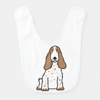English Cocker Spaniel Dog Cartoon Bib