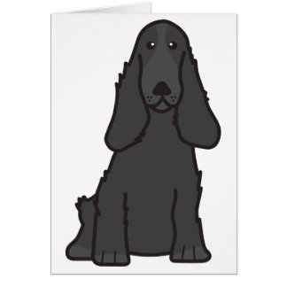 English Cocker Spaniel Dog Cartoon Card