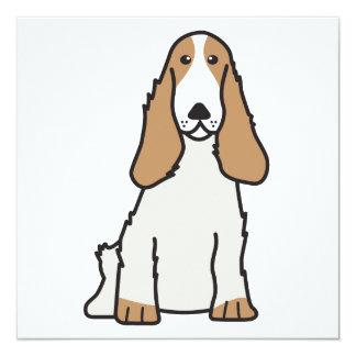 English Cocker Spaniel Dog Cartoon Card