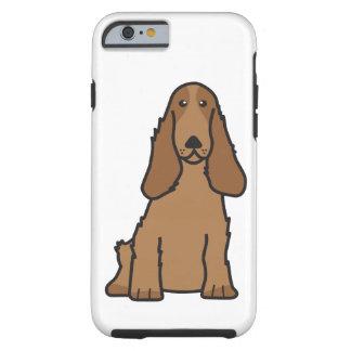English Cocker Spaniel Dog Cartoon Tough iPhone 6 Case