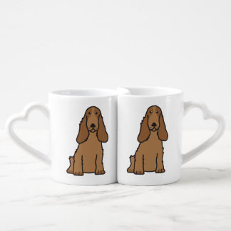 English Cocker Spaniel Dog Cartoon Coffee Mug Set