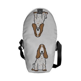 English Cocker Spaniel Dog Cartoon Commuter Bag