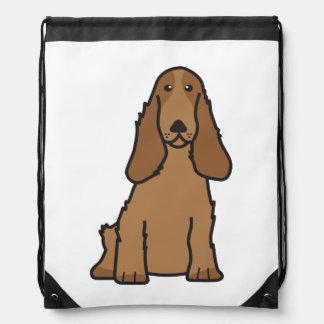 English Cocker Spaniel Dog Cartoon Drawstring Bag