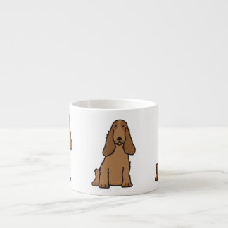 English Cocker Spaniel Dog Cartoon Espresso Mug