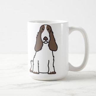 English Cocker Spaniel Dog Cartoon Coffee Mugs