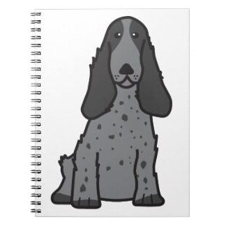 English Cocker Spaniel Dog Cartoon Note Books