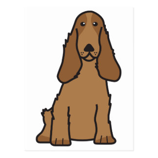 English Cocker Spaniel Dog Cartoon Postcard