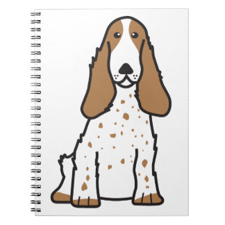 English Cocker Spaniel Dog Cartoon Spiral Notebook