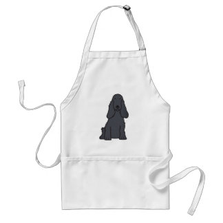 English Cocker Spaniel Dog Cartoon Standard Apron