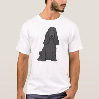 English Cocker Spaniel Dog Cartoon T-Shirt