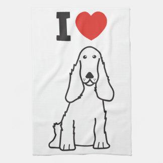 English Cocker Spaniel Dog Cartoon Tea Towel
