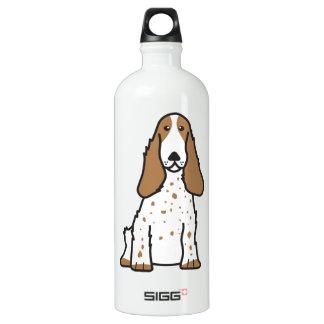 English Cocker Spaniel Dog Cartoon Water Bottle