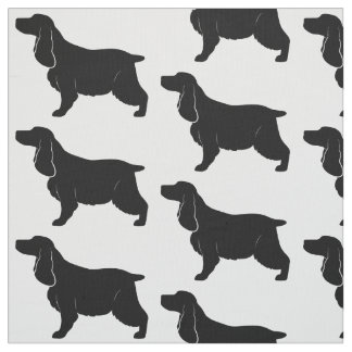 English Cocker Spaniel in Silhouette Fabric