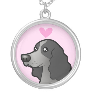 English Cocker Spaniel Love Silver Plated Necklace