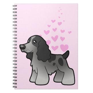 English Cocker Spaniel Love Spiral Note Books