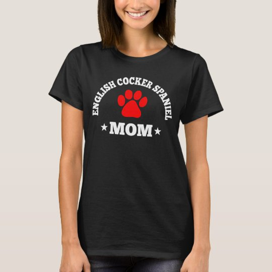 English Cocker Spaniel Mum T-Shirt