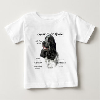English Cocker Spaniel (parti) History Design Baby T-Shirt