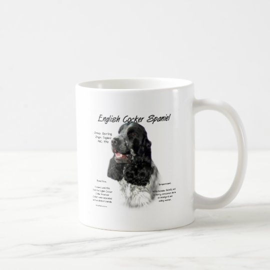 English Cocker Spaniel (parti) History Design Coffee Mug