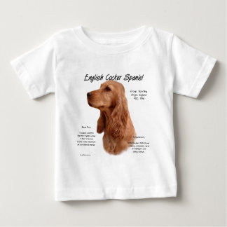 English Cocker Spaniel (red) History Design Baby T-Shirt