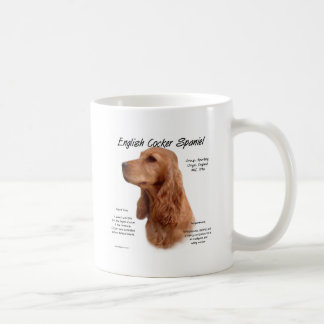 English Cocker Spaniel (red) History Design Coffee Mug