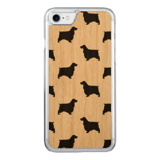 English Cocker Spaniel Silhouettes Pattern Carved iPhone 7 Case
