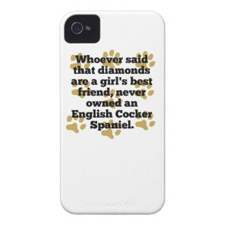 English Cocker Spaniels Are A Girl's Best Friend iPhone 4 Covers
