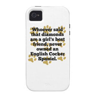 English Cocker Spaniels Are A Girl's Best Friend iPhone 4/4S Cases