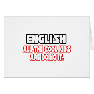 English Cool Kids Card