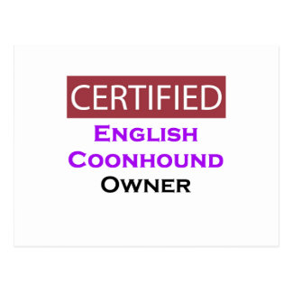 English Coonhound Certified Owner Postcard
