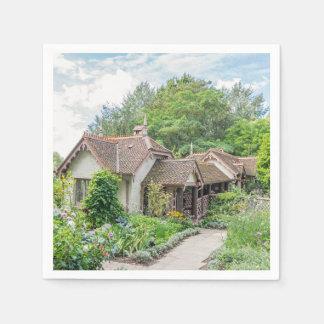 English cottage disposable serviette
