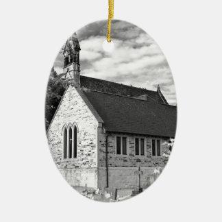 English Country church Christmas Ornament