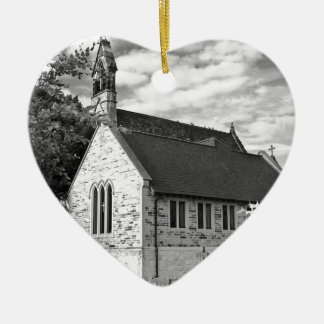 English Country church Christmas Ornament