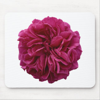 English Country Garden Frilly Red Rose Mouse Pad