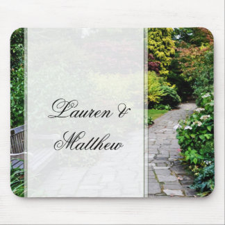 English country garden mouse pad